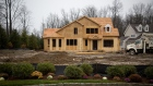 A home is seen under construction at the Toll Brothers Inc. Enclave at Rye Brook housing development in Rye Brook, New York, U.S., on Wednesday, Dec. 2, 2015. Toll Brothers, the largest U.S. luxury-home builder, is expected to release earnings on December 8.