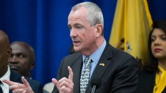Phil Murphy, governor of New Jersey, speaks during a budget press conference in Newark, New Jersey, U.S. Bloomberg