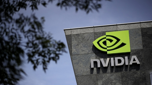 SANTA CLARA, CA - MAY 10:  A sign is posted in front of the Nvidia headquarters on May 10, 2018 in Santa Clara, California. Nvidia Corporation will report first quarter earnings today after the closing bell.  (Photo by Justin Sullivan/Getty Images)