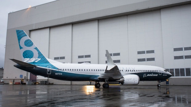 A Boeing 737 Max 8 Photographer: David Ryder/Bloomberg