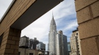 The Chrysler Building is seen from the rooftop of the AKA United Nations building in New York.