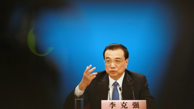 Li Keqiang on March 15. Photographer: Giulia Marchi/Bloomberg
