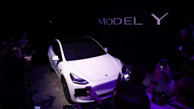 Tesla Model Y Photographer: Patrick T. Fallon/Bloomberg