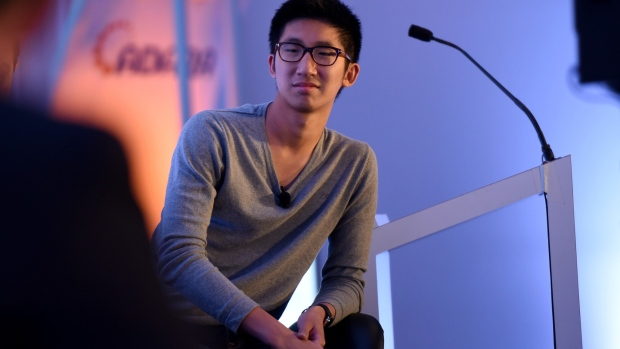 NEW YORK, NY - SEPTEMBER 30: CEO/Founder of Kiip Brian Wong speaks onstage at the The C-Suite Mobilizes panel during Advertising Week 2015 AWXII at the ADARA Stage at Times Center Hall on September 30, 2015 in New York City. (Photo by Mike Pont/Getty Images for AWXII)