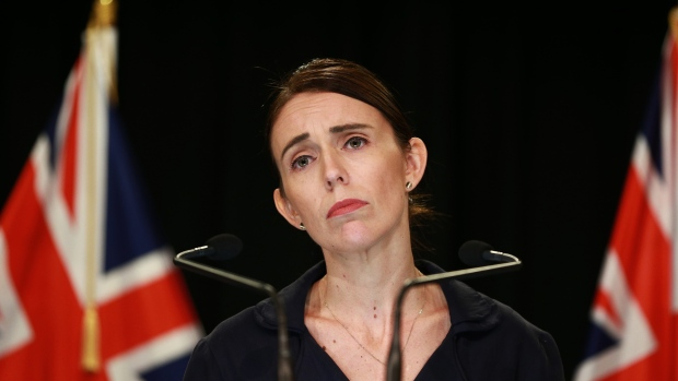 WELLINGTON, NEW ZEALAND - MARCH 17: New Zealand Prime Minister Jacinda Ardern speaks to media at Parliament on March 17, 2019 in Wellington, New Zealand. 50 people are confirmed dead and 36 are injured still in hospital following shooting attacks on two mosques in Christchurch on Friday, 15 March. The attack is the worst mass shooting in New Zealand's history. (Photo by Hagen Hopkins/Getty Images)
