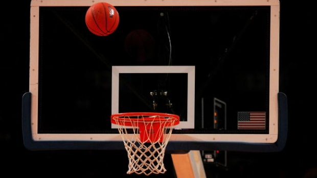NEW YORK - MARCH 12: A basketball is shot towards the hoop and backboard during the 2008 Big East Men's Basketball Championship at Madison Square Garden on March 12, 2008 in New York City. (Photo by Michael Heiman/Getty Images)