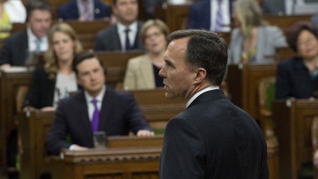Finance Minister Bill Morneau delivers the federal budget in the House of Commons in Ottawa