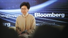 Carrie Lam on March 21. Photographer: Anthony Kwan/Bloomberg
