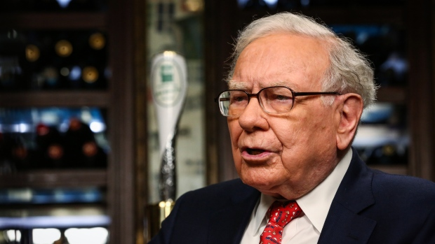 Warren Buffett speaks during a Bloomberg Television interview in New York August 2017