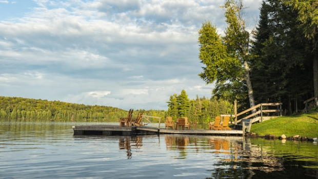 A dock in Ontario's Muskoka region. Image courtesy of Porter Airlines via CNW Group