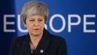 British Prime Minister Theresa May speaks to the media at the end of the first of a two-day summit of European Union leaders on March 21, 2019 in Brussels, Belgium. Leaders will discuss May's request for an extension of the deadline for the United Kingdom's departure from the EU, or Brexit. European Council President Donald Tusk said yesterday that he can see member states agreeing to a short extension beyond March 29, though he has coupled an extension to the British Parliament passing Theresa May's Brexit agreement first.