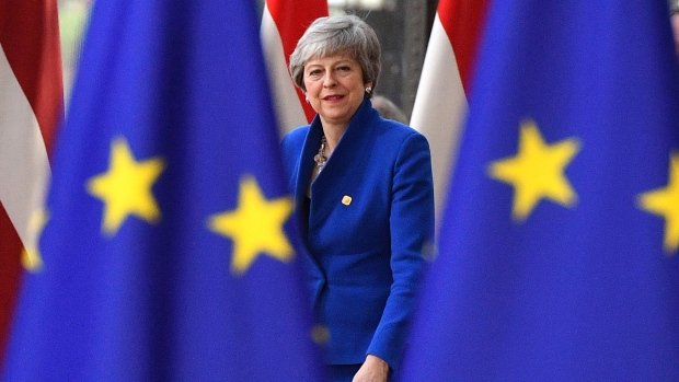 BRUSSELS, BELGIUM - APRIL 10: Britain's Prime minister Theresa May arrives ahead of a European Council meeting on Brexit at The Europa Building at The European Parliament on April 10, 2019 in Brussels, Belgium. Theresa May formally presents her case to the European Union for a short delay to Brexit until 30 June 2019. The other EU leaders will then then discuss how to respond at a dinner without her. (Photo by Leon Neal/Getty Images)