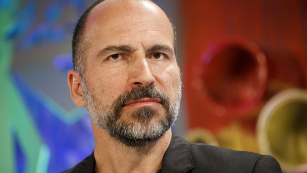 Dara Khosrowshahi, chief executive officer of Uber Technologies Inc., listens during the Fortune's Most Powerful Women conference in Dana Point, California, U.S., on Wednesday, Oct. 3, 2018.