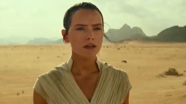 Daisy Ridley stars as Rey in the Star Wars Episode IX teaser clip, released April 12, 2019