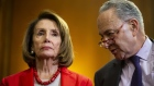 Chuck Schumer and Nancy Pelosi. Photographer: Al Drago/Bloomberg