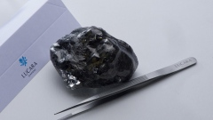 An unbroken 1,758 carat stone found by Lucara Diamond at its Karowe mine in Botswana in April, 2019.