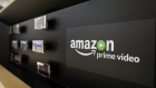 An Amazon.Com Inc. Prime Video logo sits on display on the Sony Corp. stand on the second day of Mobile World Congress (MWC) in Barcelona, Spain, on Tuesday, Feb. 28, 2017.