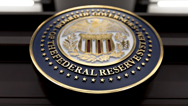 The seal of the Board of Governors of the Federal Reserve System. Bloomberg