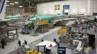 Boeing 737 Max airplanes at manufacturing facility in Renton, Washington