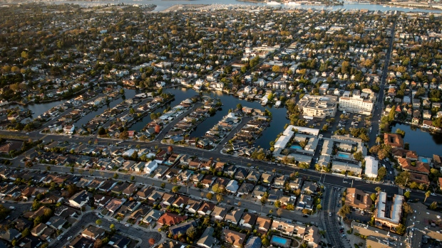 Houses stand in this aerial photograph taken above alameda california oct 5 2015 bloomberg