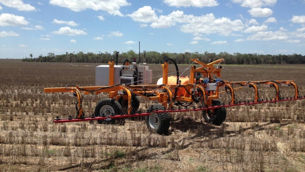 SwamFarm robot spraying on a farm in Australia. Photographer: David Stringer/Bloomberg