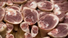 Cuts of pork meat sit following butchery at the slaughterhouse operated by AVK Exima ZAO in Galaktionovsky village, near Orel, Russia, on Friday, May 20, 2016.
