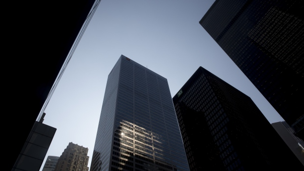 Canadian banks financial district