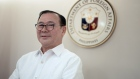 Teodoro Locsin on May 16. Photographer: Carlo Gabuco/Bloomberg