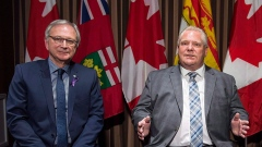 Ontario Premier Doug Ford and New Brunswick Premier Blaine Higgs