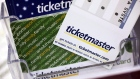 Ticketmaster tickets and gift cards are shown at a box office in San Jose, Calif., on May 11, 2009.