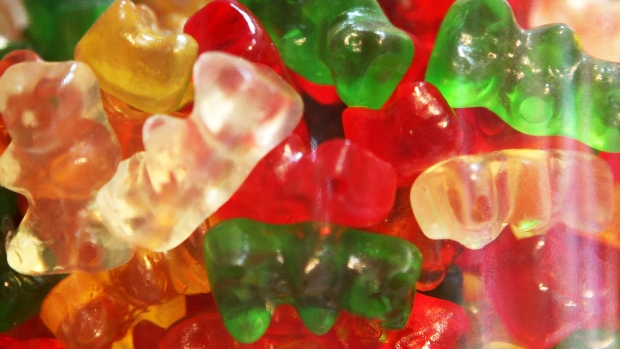 Gummi Bears are displayed in a glass jar at Sweet Dish candy store April 3, 2009 in San Francisco, California. As the economy continues to struggle, candy sales are rising as Americans seek to comfort themselves during the difficult economic times.