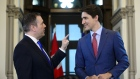 Justin Trudeau meets with Alberta Premier Jason Kenney in his office on Parliament Hill