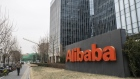 Alibaba Group Holdings Ltd. signage is displayed outside the company's offices in Beijing, China, Ja