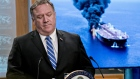 Mike Pompeo, U.S. secretary of state, speaks during a press briefing at the State Department in Washington, D.C., U.S., on Thursday, June 13, 2019. The U.S. blamed Iran for attacks on two oil tankers near the entrance to the Persian Gulf on Thursday as the incidents stoke fears that high-stakes diplomatic efforts won't avert a military confrontation between the U.S. and Iran. Photographer: Andrew Harrer/Bloomberg