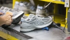 Sneakers at the New Balance Inc. manufacturing facility in Lawrence, Massachusetts