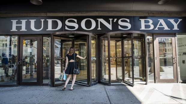 A customer enters a Hudson's Bay Co. department store in Ottawa, Ontario, Canada, on Thursday, Aug. 16, 2018. It makes sense for the U.S. and Mexico to meet bilaterally on Nafta on certain issues and Canada looks forward to rejoining talks on the trilateral pact in the coming days and weeks, Prime Minister Justin Trudeau said.