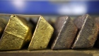 Gold bars sit in a vault at the Perth Mint Refinery, operated by Gold Corp., in Perth, Australia, on Thursday, Aug. 9, 2018. Demand for coins and minted bars was a little sluggish over the past year as Donald Trump's earlier win in the presidential poll prompted investors to divert funds into stocks, bonds and property, said Perth Mint's Chief Executive Officer Richard Hayes on Aug. 8.