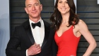 Jeff Bezos (L) and MacKenzie Bezos attend the 2018 Vanity Fair Oscar Party hosted by Radhika Jones at Wallis Annenberg Center for the Performing Arts on March 4, 2018 in Beverly Hills, California.