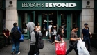 Shoppers enter a building housing a Bed Bath & Beyond Inc. store in New York, U.S., on Wednesday, July 3, 2019. Bed Bath & Beyond is scheduled to release earnings figures on July 10.