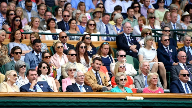 LONDON, ENGLAND - JULY 11: A general view of the Royal Box during Day Ten of The Championships - Wimbledon 2019 at All England Lawn Tennis and Croquet Club on July 11, 2019 in London, England. (Photo by Mike Hewitt/Getty Images)