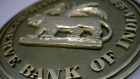 INDIA - MARCH 16: The seal for the Reserve Bank of India hangs on a wall in th RBI building, in Mumbai, India, Friday, March 16, 2007. India's central bank will cap rupee gains after a rally to a nine-year high curbed export earnings, said N.S. Paramsivam, head of treasury at Essar Group, which owns oil, steel and shipping businesses. (Photo by Scott Eells/Bloomberg via Getty Images)