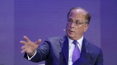 Larry Fink, chairman and chief executive officer of BlackRock Financial Management Inc., speaks during a panel discussion at the Bloomberg New Economy Forum in Singapore, on Wednesday, Nov. 7, 2018.