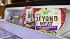 Packages of Beyond Meat Inc. beef crumbles are displayed for a photograph in Tiskilwa, Illinois, U.S., on Tuesday, April 23, 2019. Beyond Meat Inc., the maker of vegan chicken and beef substitutes backed by some of the biggest names in food and technology, is seeking to raise as much as $184 million in its initial public offering.