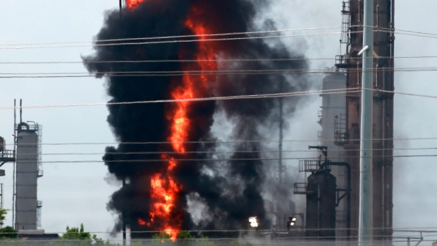 Fire breaks out at Exxon Mobil refinery in Houston area