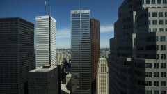 Canadian bank towers stand in Toronto on Monday June 17 2013.