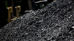 A raw coal pile sits at a mine near Wylo, West Virginia, U.S.