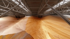 Corn stores sit inside a storage silo at the new grain terminal, operated by Cargill Inc. and M.V. Cargo, at Yuzhny Port in Yuzhny, Ukraine, on Tuesday, Nov. 13, 2018. Top commodity traders including Cargill and Bunge Ltd. are investing heavily in Ukraine ports as record harvests in the fourth-biggest exporter of grains make the nation increasingly competitive in world markets.