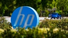HP Inc. signage stands on display outside the company's headquarters in Palo Alto, California, U.S., on Monday, May 28, 2018. HP Inc. is releasing earnings figures on May 29.