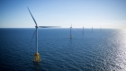 The GE-Alstom Block Island Wind Farm stands in the water off Block Island, Rhode Island, U.S., on Wednesday, Sept, 14, 2016. The installation of five 6-megawatt offshore-wind turbines at the Block Island project gives turbine supplier GE-Alstom first-mover advantage in the U.S. over its rivals Siemens and MHI-Vestas.