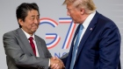 U.S President Donald Trump and Japanese Prime Minister Shinzo Abe